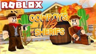COWBOYS VS SHERIFS IN ROBLOX! (Roblox Wild Revolvers)