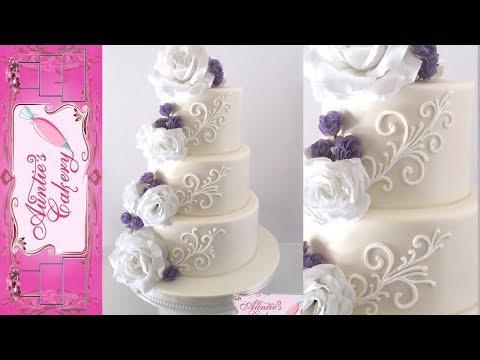 simple-white-scrolls-wedding-cake-tutorial
