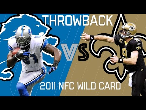 Lions vs. Saints (2011 NFC Wild Card) | Brees Outlasts Calvin Johnson | NFL Classic Highlights