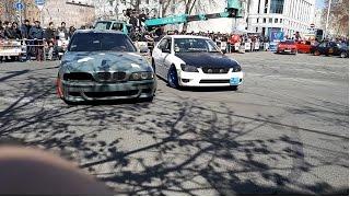 BMW E90 vs BMW E36 vs BMW E46 vs BMW E39 vs Toyota Altezza/DRIFT SHOW/Erevan, Armenia