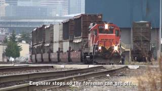 BNSF GP39E switching Rabanco, Seattle, 7-19-2010 part 1