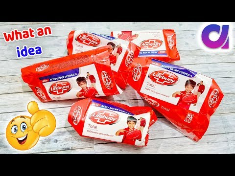 Best reuse of soap box | DIY art & crafts idea | recycling lifebuoy soap packet | Artkala 495