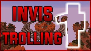 INVIS TROLLING AND FUNNY MOMENTS ( Minecraft Hypixel Skywars )