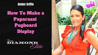 How to make a Paparazzi Jewelry Pegboard Display - Team Diamond Elite! Paparazzi Accessories