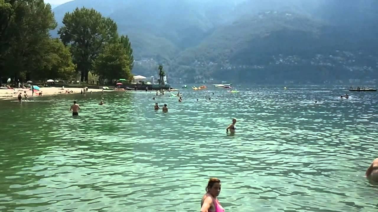 Bagno Pubblico Ascona - Strandbad am Lago Maggiore - YouTube