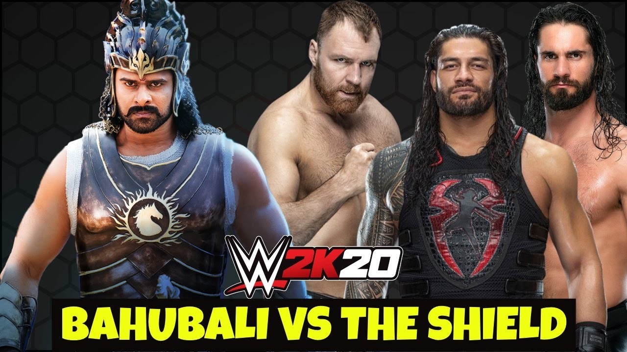 Bahubali VS The Shield WWE 2K20 3 On 1 Elimination Match ! WWE 2K20 Bahubali VS Shield
