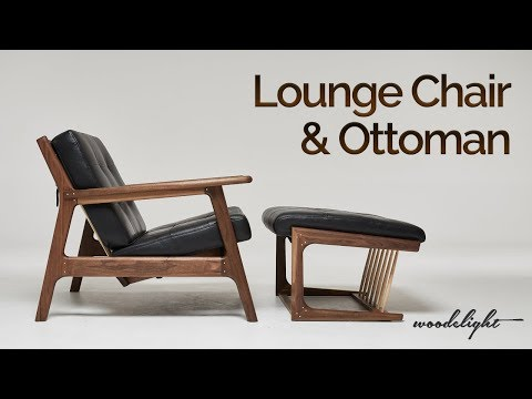Walnut Lounge Chair & Ottoman Build , Makita Exhibited Works!