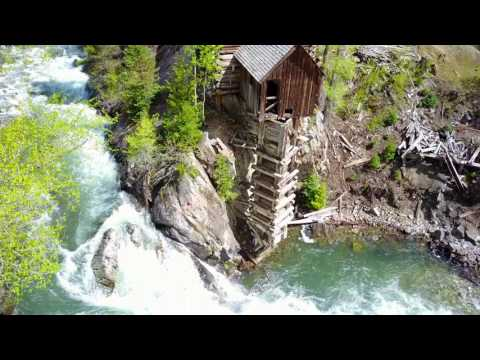 The Beautiful Crystal Mill, Crystal, Colorado - Drone in 4K