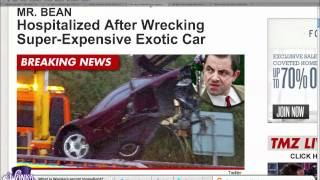 mr bean accident- some of footage revealved Top 10 Video