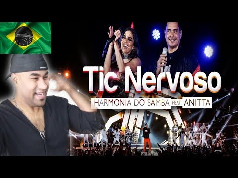 HARMONIA DO SAMBA feat. ANITTA - Tic Nervoso (Clipe Oficial) | BRAZIL MUSIC REACTION