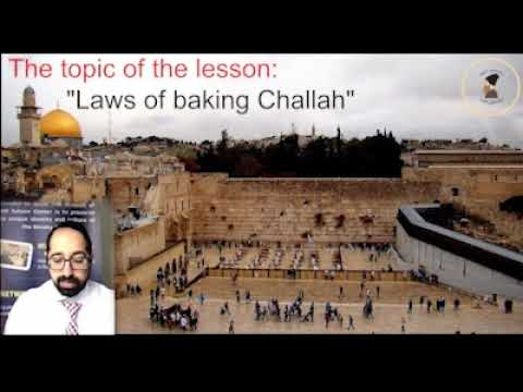Laws of baking Challah