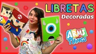 DIY: LIBRETAS DECORADAS PARA NIÑOS / Fáciles, bonitas y económicas / Regreso a clases/Back to school