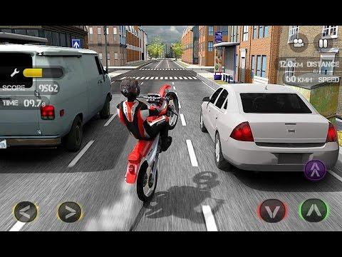Hasil gambar untuk gambar game android race the traffic moto