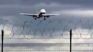 Monarch A321 G ZBAE Short Finals Landing at Manchester Airport