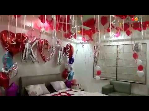 Birthday Decoration Ideas At Home With Balloons For Husband