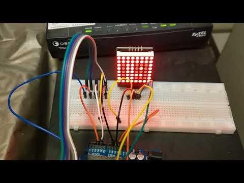 嘗試用arduino和點矩陣LED做了貪食蛇遊戲(Snake Game)