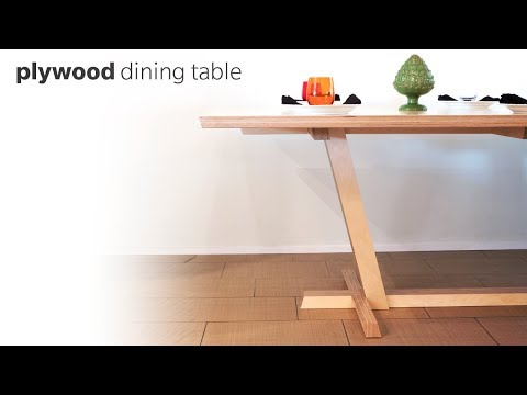DIY Dining Table Made From Plywood - Woodworking
