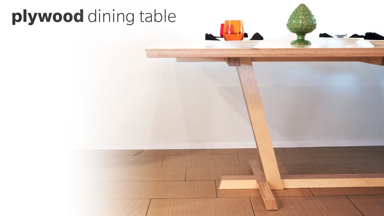 DIY Dining Table Made From Plywood Woodworking YouTube : maxresdefault from www.youtube.com size 1280 x 720 jpeg 74kB