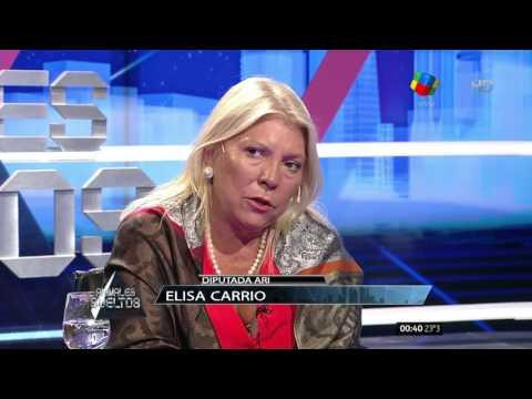 """Elisa Carrió: """"Angelici, no maneje la Justicia Federal, voy a ir por usted"""""""