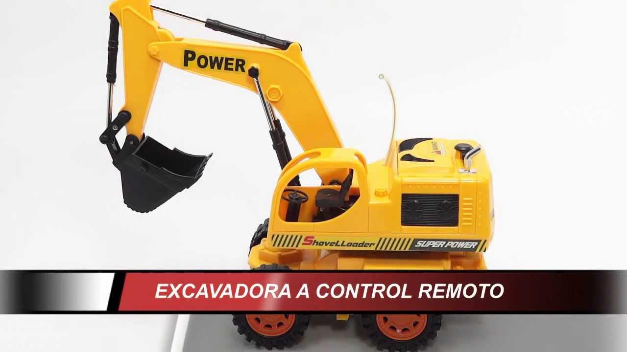 Retro Excavadora de juguete para nios a control remoto