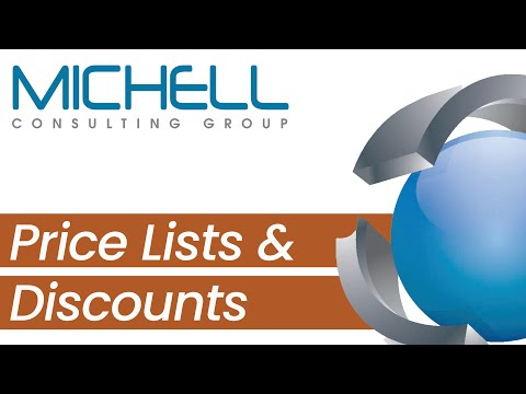 Price Lists and Discounts in SAP Business One V 9.0