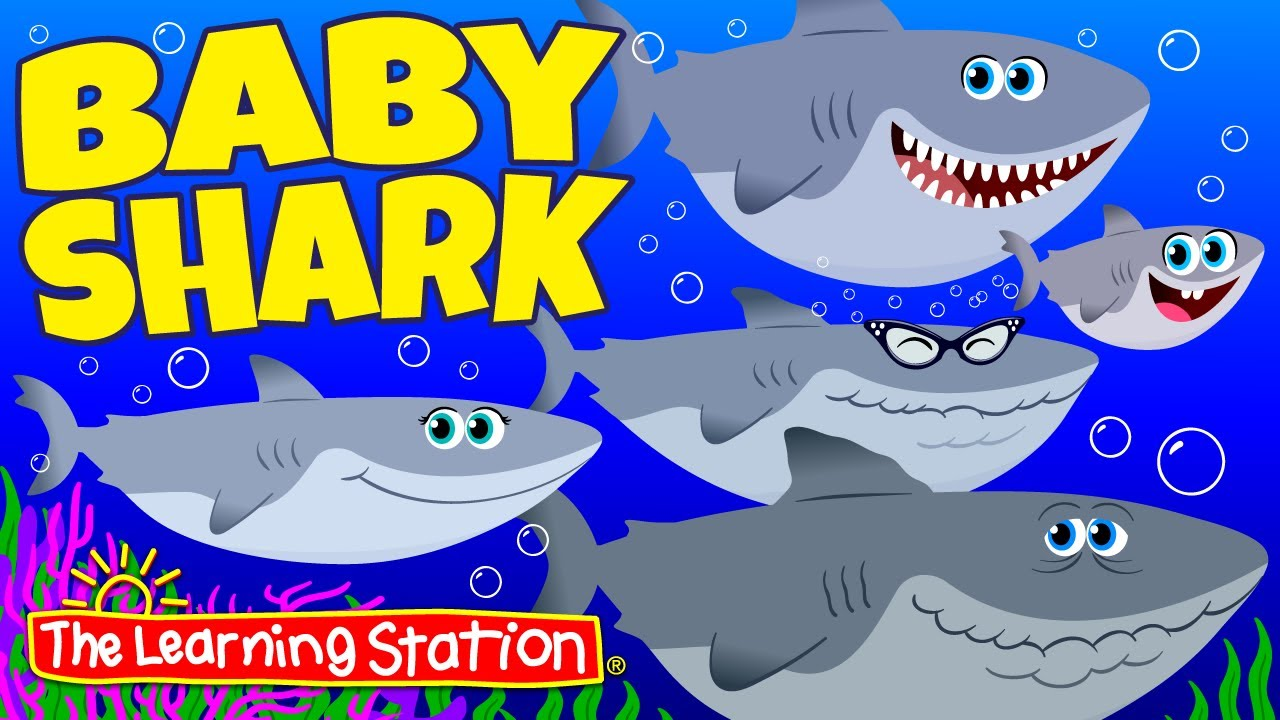 Baby Shark Song ♫ Original Version ♫ Action Song for Children ♫ Kids Songs ♫ by The Learning Station