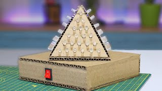 How To Make DJ Light Pyramid Model At Home  - Creative Idea