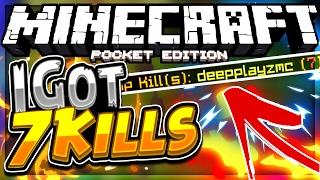 7 kills in one game of mcpe uhc run (mcpe uhc run)