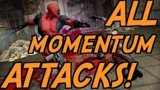 Deadpool - All Weapon Momentum Attacks! (Fully Upgraded)