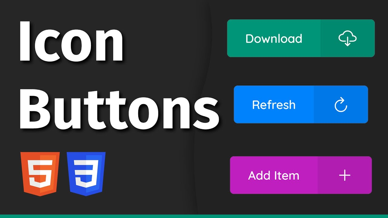 Easily Create Buttons With Icons Using HTML & CSS   Web Development Tutorial
