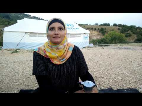 Syrian woman and smugglers