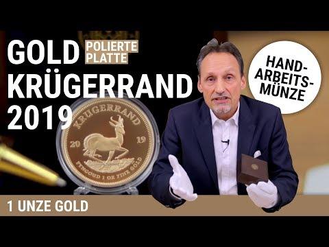 KRÜGERRAND 2019 - POLIERTE PLATTE - 1 UNZE GOLD