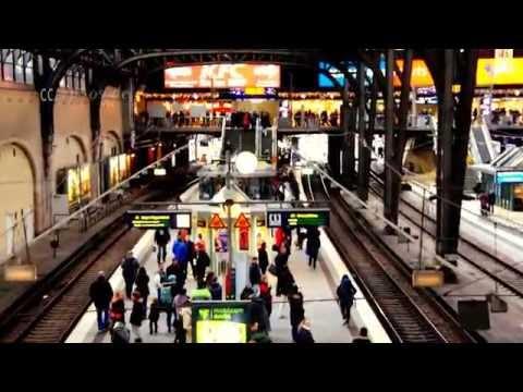 Huge Train Station of Hamburg City
