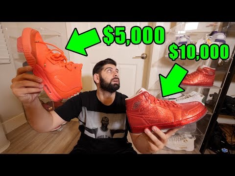 MY TOP 10 MOST EXPENSIVE SNEAKERS!! (OVER $100,000 TOTAL)