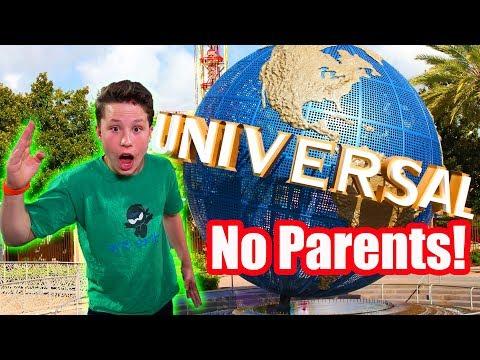 Universal studios with NO PARENTS!!