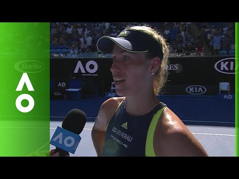 Angelique Kerber on court interview (2R) | Australian Open 2018