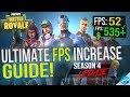🔧 FORTNITE Battle Royale: Dramatically increase performance / FPS with any setup! Season 4