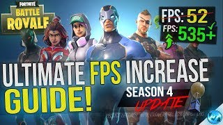🔧 FORTNITE Battle Royale: Dramatically increase performance / FPS with any setup! Season 4