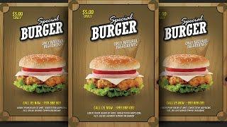 Create Burger Promotion Flyer Photoshop Tutorial