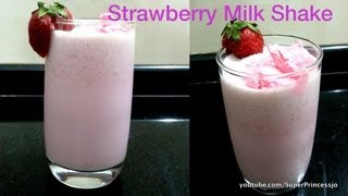 Yummy Strawberry Milkshake At Home Recipe | Cool Summer Drink