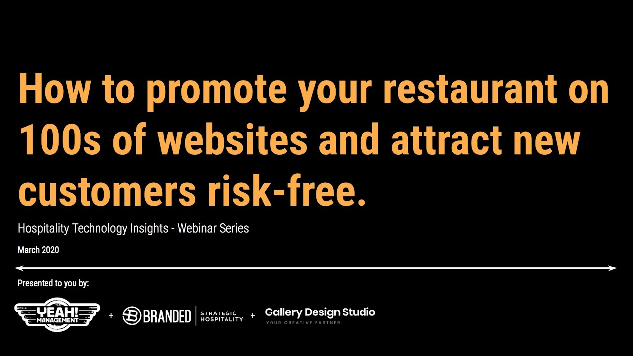 How to promote your restaurant & attract new customers risk-free.