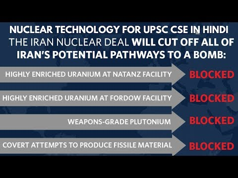 Iran Nuclear Deal (in Hindi) - Nuclear Technology for UPSC CSE