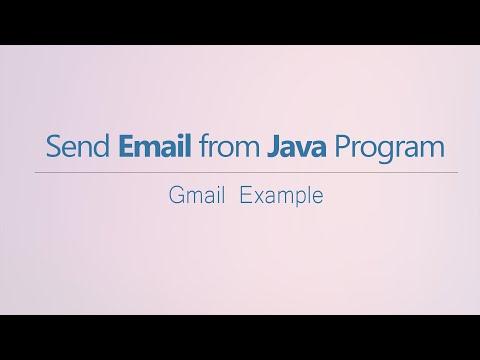 Java - Send Email From Java Program - Java Mail API - (Gmail Example - 2019)