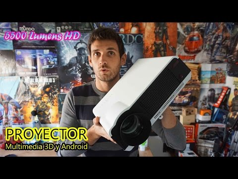 Proyector multimedia LED HD con 5500 Lumens, Android, 3D y mucho + [Review + Unbox]