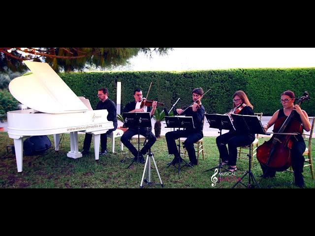 Over the rainbow piano & string quartet wedding Harold Arlen