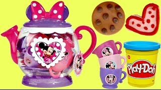 MINNIE MOUSE Teapot Play Toy Set & Play-doh Cookies
