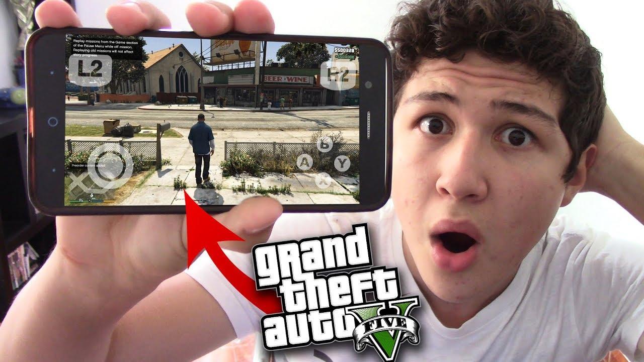Como Jugar Gta V En Movil Grand Theft Auto 5 Para Android Ios
