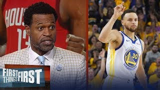 Steph Curry isn't underrated, Stephen Jackson talks Rockets Game 1 win   NBA   FIRST THINGS FIRST