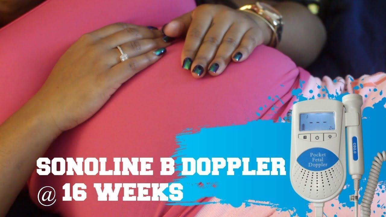 How To Find Baby S Heartbeat W Sonoline B Heart Doppler 16 Weeks