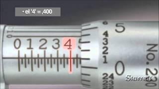 ¿Cómo leer el micrómetro en pulgadas?